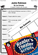 Jackie Robinson Reader's Theater Script and Lesson