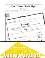 James Marshall Literature Activities - The Three Little Pigs