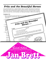 Jan Brett Literature Activities - Fritz and the Beautiful Horses