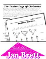 Jan Brett Literature Activities - The Twelve Days of Christmas