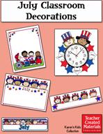 July Classroom Decorations by Karen's Kids