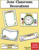 June Classroom Decorations by Karen's Kids