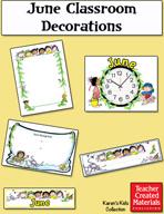 June Classroom Decorations by Karen's Kids