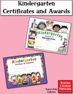 Kindergarten Certificates and Awards by Karen's Kids