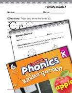 Kindergarten Foundational Phonics Skills: Primary Sound c