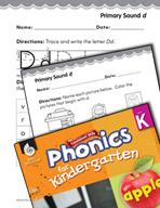 Kindergarten Foundational Phonics Skills: Primary Sound d