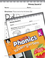 Kindergarten Foundational Phonics Skills: Primary Sound d