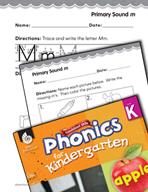 Kindergarten Foundational Phonics Skills: Primary Sound m