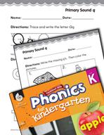 Kindergarten Foundational Phonics Skills: Primary Sound q