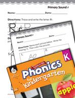Kindergarten Foundational Phonics Skills: Primary Sound r