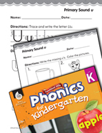 Kindergarten Foundational Phonics Skills: Primary Sound u