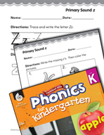 Kindergarten Foundational Phonics Skills: Primary Sound z