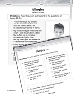 Language Arts Test Preparation Level 2 - Allergies (Practicing for Today's Tests Series)