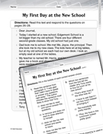 Language Arts Test Preparation Level 2 - My First Day at t