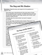 Language Arts Test Preparation Level 2 - The Dog and His Shadow (Practicing for Today's Tests Series)