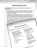 Language Arts Test Preparation Level 2 - The Fox and the Cat (Practicing for Today's Tests Series)