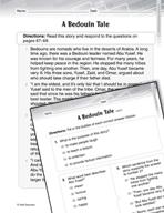 Language Arts Test Preparation Level 3 - A Bedouin Tale (P