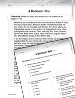 Language Arts Test Preparation Level 3 - A Bedouin Tale (Practicing for Today's Tests Series)