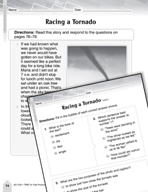Language Arts Test Preparation Level 3 - Racing a Tornado (Practicing for Today's Tests Series)