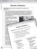Language Arts Test Preparation Level 3 - Threads of Kindness (Practicing for Today's Tests Series)