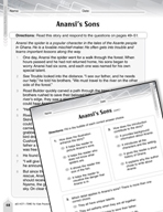 Language Arts Test Preparation Level 4 - Anansi's Sons (Practicing for Today's Tests Series)