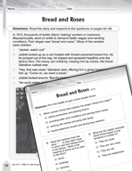 Language Arts Test Preparation Level 4 - Bread and Roses (