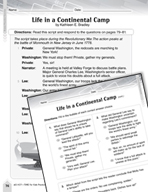 Language Arts Test Preparation Level 4 - Life in a Continental Camp (Practicing for Today's Tests Series)