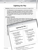 Language Arts Test Preparation Level 4 - Lighting the Way (Practicing for Today's Tests Series)