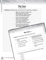 Language Arts Test Preparation Level 4 - The Lion and A Bi