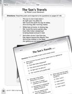 Language Arts Test Preparation Level 4 - The Sun's Travels