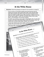 Language Arts Test Preparation Level 5 - At the White House and the Right to Vote (Practicing for Today's Tests Series)