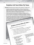 Language Arts Test Preparation Level 5 - Dolphins Call Eac