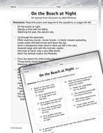 Language Arts Test Preparation Level 5 - On the Beach at Night (Practicing for Today's Tests Series)