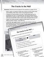 Language Arts Test Preparation Level 5 - The Cracks in the Wall (Practicing for Today's Tests Series)