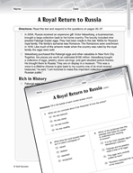 Language Arts Test Preparation Level 6 - A Royal Return to Russia (Practicing for Today's Tests Series)