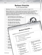 Language Arts Test Preparation Level 6 - Barbara Frietchie (Practicing for Today's Tests Series)