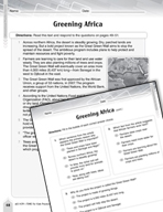 Language Arts Test Preparation Level 6 - Greening Africa (Practicing for Today's Tests Series)