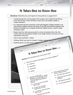 Language Arts Test Preparation Level 6 - It Takes One to Know One (Practicing for Today's Tests Series)