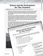 Language Arts Test Preparation Level 6 - Science and the Environment (Practicing for Today's Tests Series)