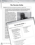 Language Arts Test Preparation Level 6 - The Newsies Strike (Practicing for Today's Tests Series)