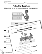 Language Conventions: Finish the Questions Practice