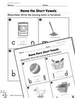 Language Conventions: Short Vowels Practice