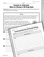 Language Conventions: Type of Writing Practice