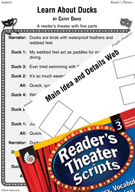 Learn About Ducks Reader's Theater Script and Lesson