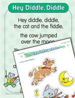"Learning Center Activities for ""Hey Diddle, Diddle"""