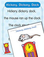 "Learning Center Activities for ""Hickory, Dickory, Dock"""