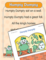 "Learning Center Activities for ""Humpty Dumpty"""
