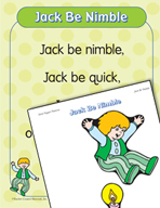 """Learning Center Activities for """"Jack Be Nimble"""""""