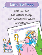 "Learning Center Activities for ""Little Bo-Peep"""
