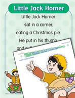 """Learning Center Activities for """"Little Jack Horner"""""""
